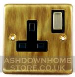 Standard Plate Antique Bronze Plug Sockets 13 Amp
